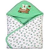 BRIM HUGS & CUDDLES Baby Wrapper Printed (Green)