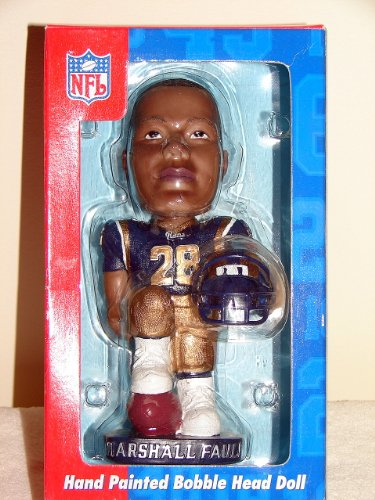 Hand Painted Bobble Head - NFL St. Louis Rams