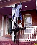 "63"" Life Size Climbing Zombies Halloween Haunted House Prop Decor (set of 2)"