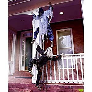 63″ Life Size Climbing Zombies Halloween Haunted House Prop Decor (set of 2)