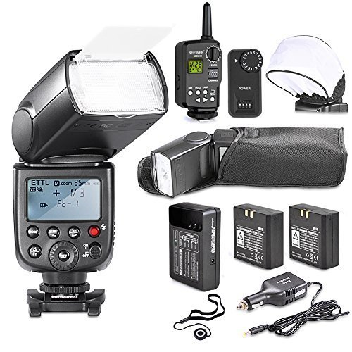 NeewerLI-ION BATTERY TT860MASTER E-TTL Flash Speedlite Kit for Canon DSLR Camera: TT860 E-TTL Flash+Flash Trigger+LI-ION Batteries+AC Charger+Car Charger+Soft Flash Bounce Diffuser+Lens Capの商品画像