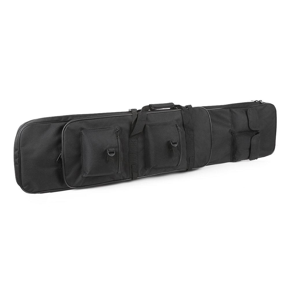 Festnight 95cm / 120cm Outdoor Hunting Gun Carry Bag Gear Protection Case with Adjustable Shoulder Strap, Black by Festnight (Image #2)