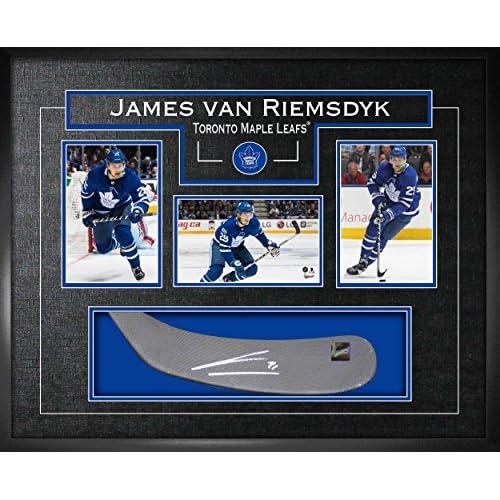 new product dd36b 55eba Frameworth James Van Riemsdyk Signed Stickblade Leafs w/3 ...