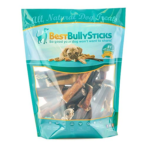 Best Bully Sticks USA 4-inch Bully Sticks (1lb. Bag), Made in USA, All-Natural, Grass-Fed, Free-Range, Superior Rawhide Alternative Dog Treat Chews