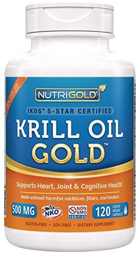 Nutrigold Krill Oil Gold, 500mg, 120 capsules by Nutrigold
