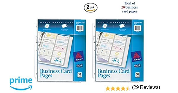 Amazon avery business card pages pack of 10 76009 2 amazon avery business card pages pack of 10 76009 2 office products reheart Image collections