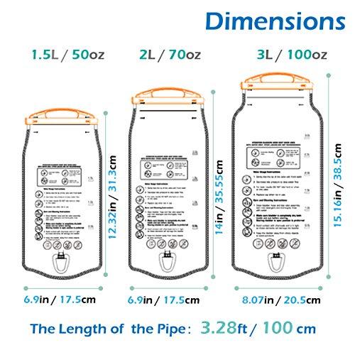 TRIWONDER 1.5-2-3L depósito de Agua de vejiga de hidratación Libre de BPA para Montar en Bicicleta Senderismo Mochila de Camping (1.5L / 50oz): Amazon.es: ...