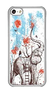 Apple Iphone 5C Case,WENJORS Unique A Happy Place Hard Case Protective Shell Cell Phone Cover For Apple Iphone 5C - PC Transparent