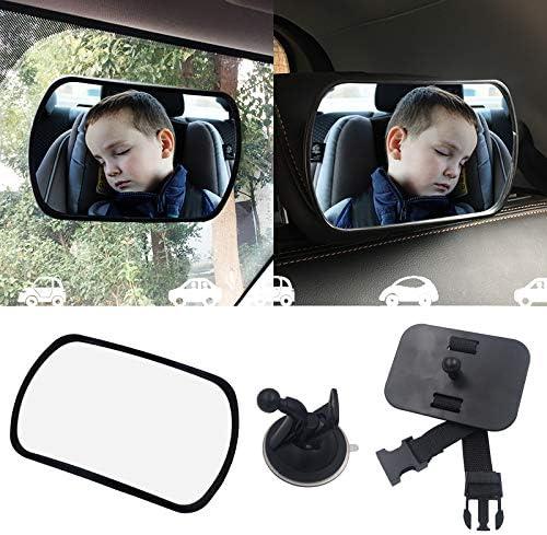 Espejo de asiento trasero estable con acabado mate Visi/ón libre del ni/ño en el asiento trasero MFEI Espejo para beb/é para coche seguro seguro y resistente a roturas