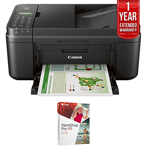 Canon PIXMA MX492 WiFi All-In-One Compact Size Printer Scanner Copier Fax (0013C002) with Corel Paint Shop Pro X9 & 1 Year Extended Warranty