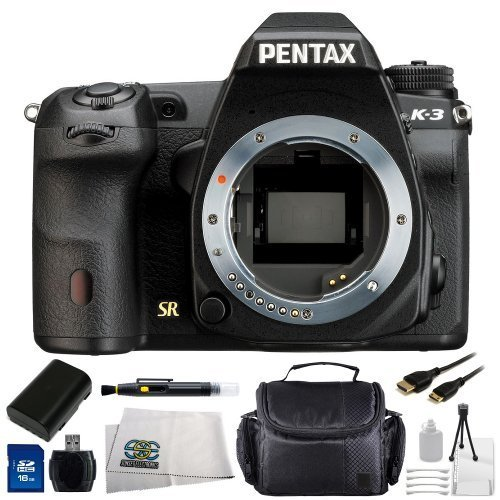 UPC 017452775998, Pentax K-3 Pentax SLR 24MP SLR Camera with 3.2-Inch TFT LCD-(Body Only) Kit. Includes: 16GB Memory Card, Card Reader, Extended Life Replacement Battery, Mini HDMI Cable, Carrying Case & More
