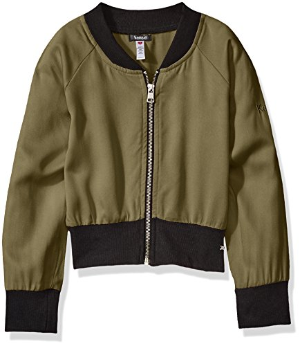 (kensie Girls' Big Fashion Bomber Jacket (More Styles Available), Olive dye Green, 8 )