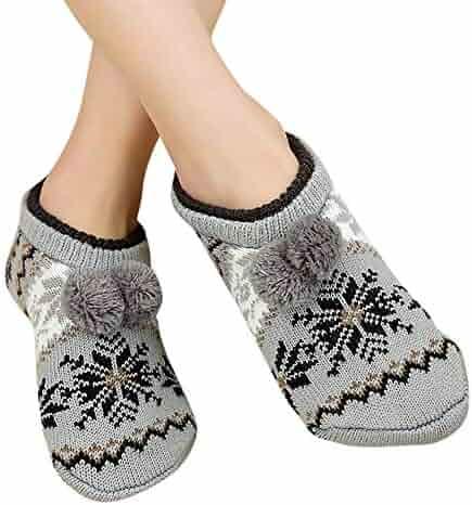 a70eec6fa Hurrybuy Womens Christmas Socks Elk Print Xmas Winter Warm Cosy Sleeper Sock