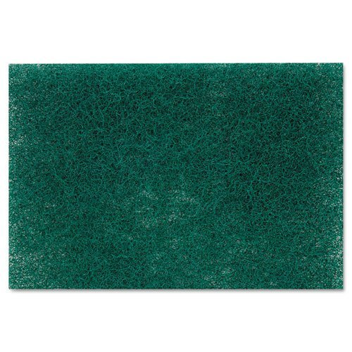Commercial Heavy-Duty Scouring Pad, Green, 6 x 9, 12/Pack, Sold as 1 Dozen