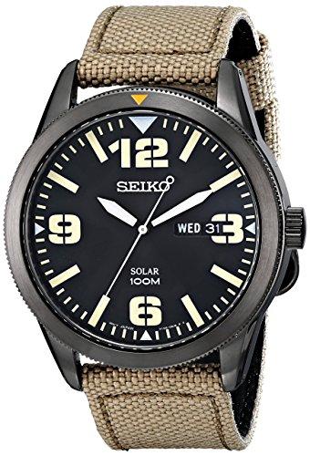 Seiko Men s SNE331 Sport Solar Black Sta