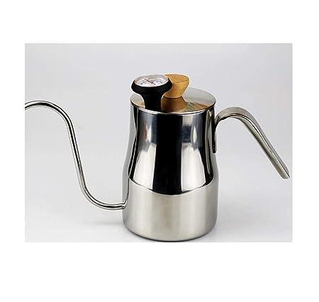 Cafetera lavada a mano, olla de boca fina de acero inoxidable ...