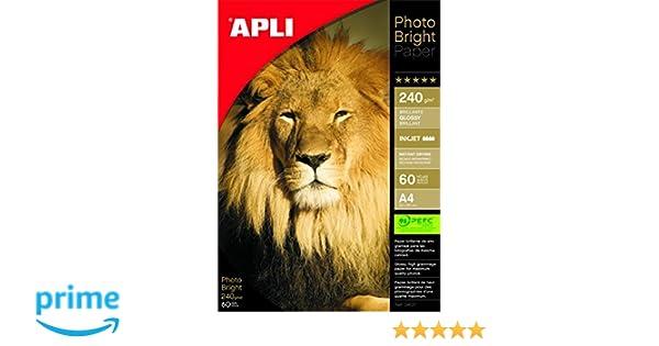 Apli 4137 - Bolsa con 50 hojas de papel fotografico, 240 g, Unidades contenidas: 1