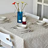 White Daisies Cotton Linen Lacework Dining Decoration Tablecloth Multi Functional Table Cloth Table Cover Protector For Home Party Picnic Outdoor by ZSL