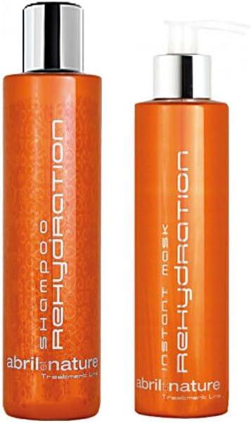 Abril et Nature Rehydration Pack Shampoo 250 ml. + Instant Mask 200 ml.: Amazon.es: Belleza