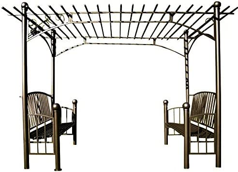 CLP XXL arco para rosas con 2 madera, Pergola carpa, tamaño: 310 x ...