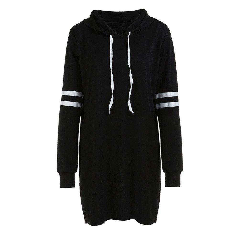 LILICAT V/êtements La Mode des Femmes Nouvelles Manches Longues coll/ège Couture Sweat /à Capuche /à Manches Longues Pull Robe S-XL