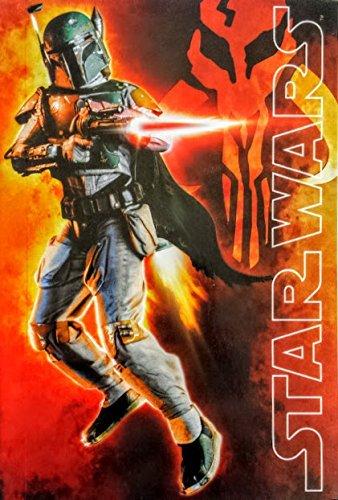 Star Wars Boba Fett Notebook R2D2 Sticker Book The Force Awakens Pencils Luke Yoda Disney