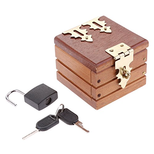 - MagiDeal Magic Tricks Prop Ring Coin Box Wooden Case for Magician Accessory Street Magic Brown