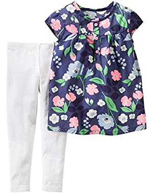 2 Piece Floral Set, Navy/Floral, New Born