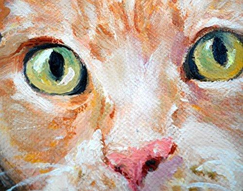 (Cat Print, Orange Striped Tabby from my original painting)