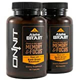 Onnit Alpha BRAIN Nootropic to Improve Brain Function | 90 Count (2 Pack)