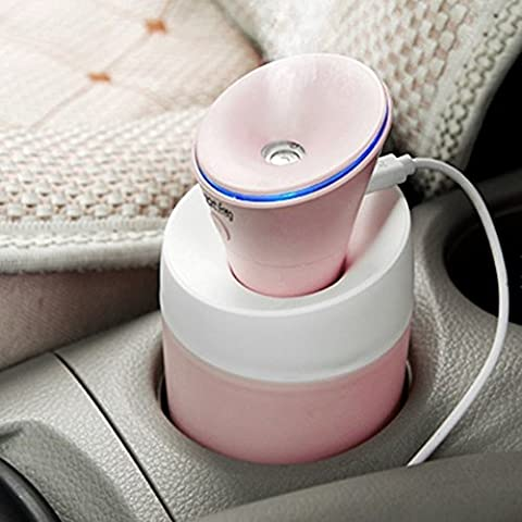 Tanxih Cool Mist Humidifier Ultra-silence Mini Portable Diffuser Personal Air Purifier for Car Travel and Baby (Baby Humidifier Air Purifier)