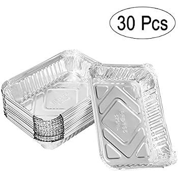 Amazon Com Bestomz 570ml Aluminum Foil Grill Drip Pans
