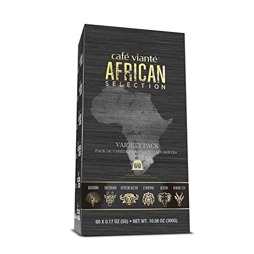 Café Vianté - African Variety. 60-Count Specialty Coffee Capsules for Nespresso