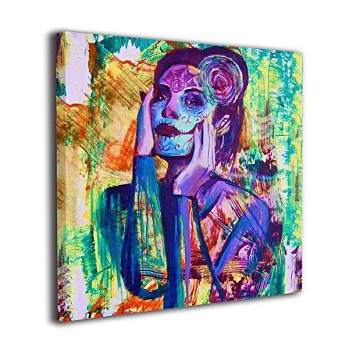 Arnold Glenn Day of The Dead Sugar Skull Dia De Los Muerto Mexican Photo Paintings Canvas Wall Art Prints Modern Decorative Giclee Artwork Wall Decor-Wood Frame Gallery -