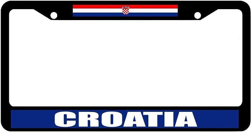 I Love Heart Czech Republic Palm Tree Metal License Plate Frame Tag Holder