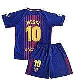 #7: kaerok 17/18 New Season Barcelona Messi 10 Kids/Youths Home Soccer Jersey Shorts