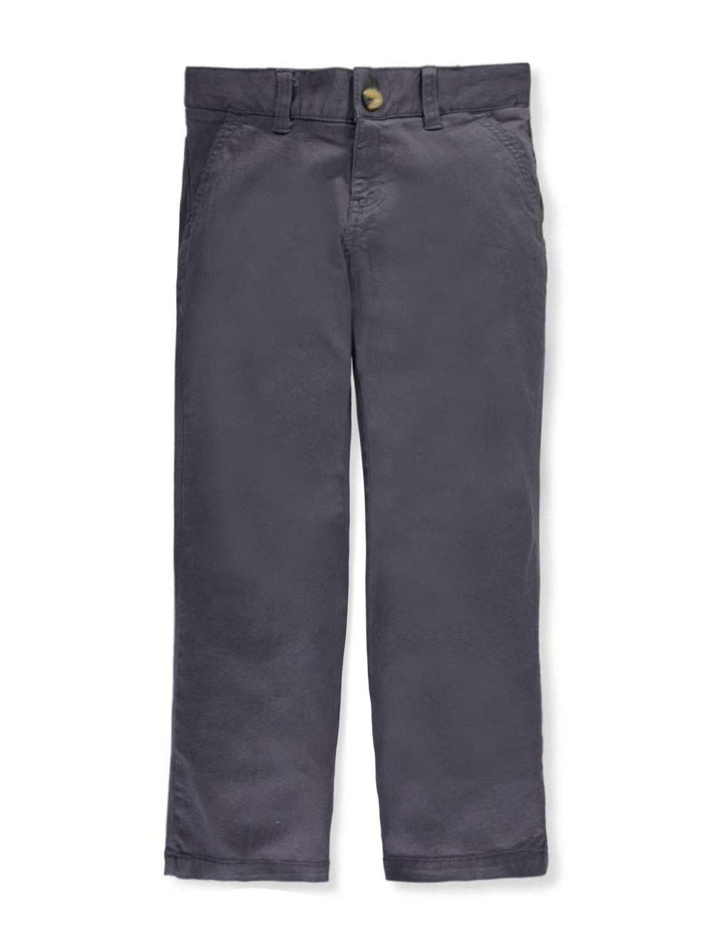 French Toast Big Boys' Twill Straight Fit Chino Pants - Gray, 10
