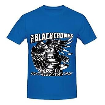 amazoncom black crowes wiser time rock men crew neck