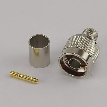 /hdf400 RP Typ N Stecker Crimpstecker/