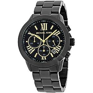 michael kors reagan chronograph mens watch black gold michael kors black dial chronograph mens watch mk6302