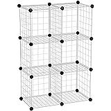 Honey-Can-Do SHF-01794 Modular Mesh Storage Cube, 6-Pack, Chrome, 43Hx29W