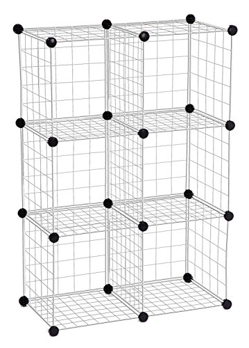 Honey-Can-Do SHF-01794 Modular Mesh Storage Cube, 6-Pack, Chrome, 43Hx29W