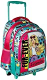 Barbie Polyester 16 inch Turquoise Children's Backpack (MBE -  MAT138)