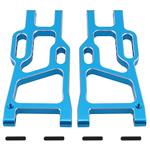 (Hobbypark 106621 Aluminum Rear Lower Suspension Arms Blue (L/R) for Redcat Shockwave Tornado Epx (PRO) Off Road Buggy Upgrade Parts)
