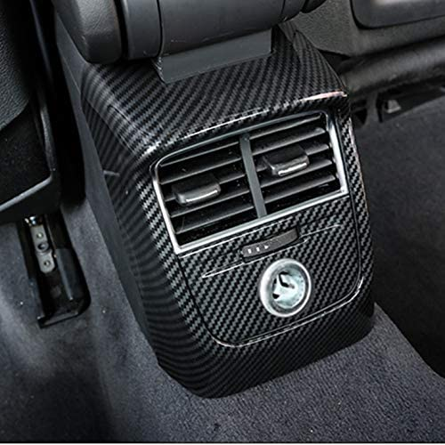 Hdcf Auto Hinten Klimaanlage Outlet Rahmen Dekoration 2 Stücke Kohlefaser Farbe Für A3 8 V 2014 18 Abs Anti Kick Cover Decals Auto