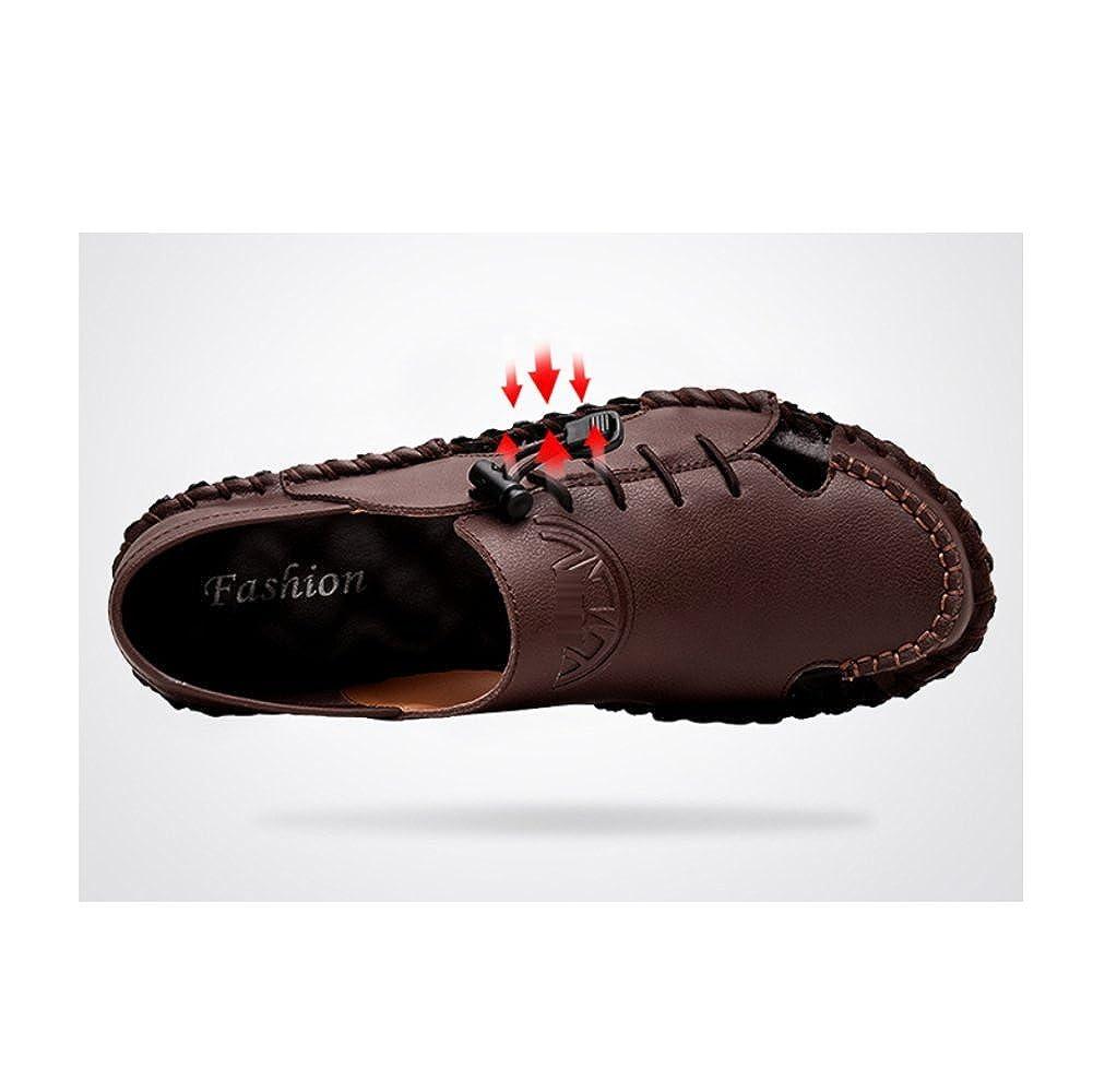 LYZGF Männer Jugend Atmungsaktive Sommer Casual Baotou Sandalen Mode Atmungsaktive Jugend Hausschuhe DarkBraun 95bbc1