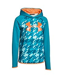 Under Armour Girls' UA Armour Fleece Printed Big Logo Hoodie YXS EUROPA PURPLE