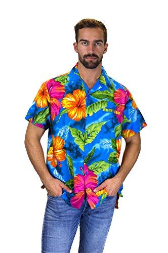 - Funky Hawaiian Shirt, Big Flower, lightblue, S