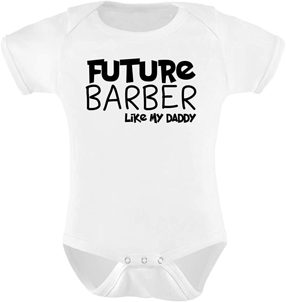 six pound tees Future Barber Like Daddy Baby Grow Funny Gift Novelty Humour Birthday Cut Hair