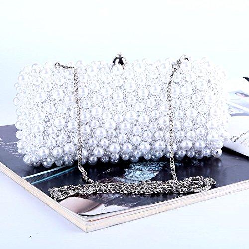 H.Slay Tote Bolso De Fiesta Con Cristales De Diamante Estilo Sobre, Para Bodas, Fiestas De Graduación Y Fiestas,White White